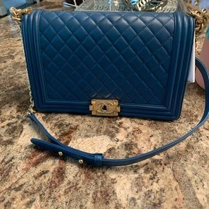 Pristine Chanel Boy Bag Large